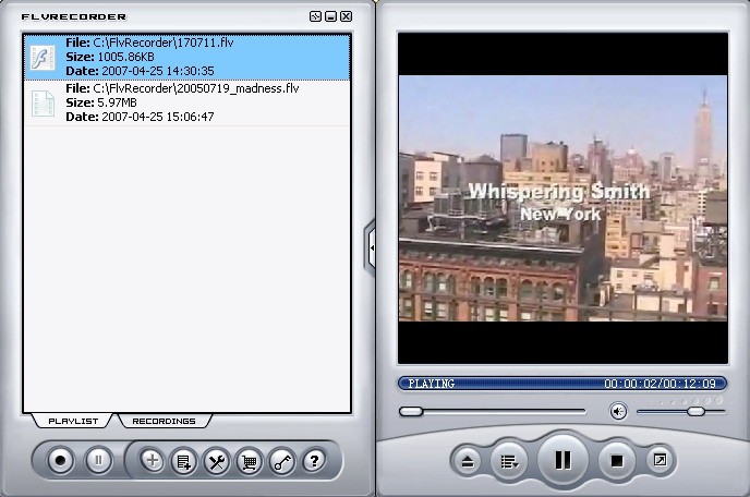 Click to View Full ScreenshotFlv Recorder 3.61 screenshot